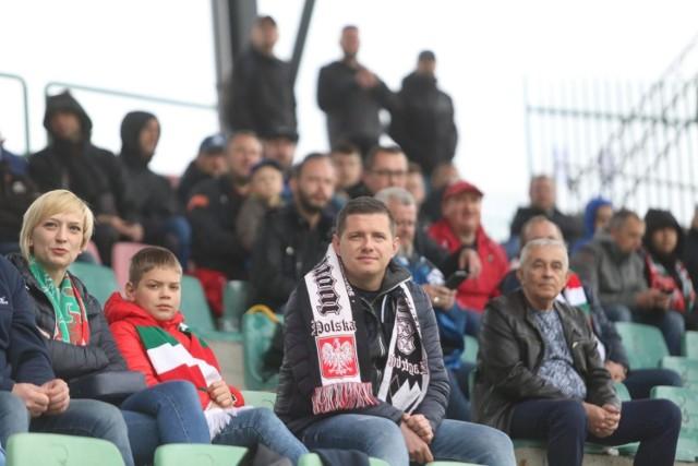 Kibice na meczu Zagłębie Sosnowiec - GKS Jastrzębie  Zobacz kolejne zdjęcia. Przesuwaj zdjęcia w prawo - naciśnij strzałkę lub przycisk NASTĘPNE