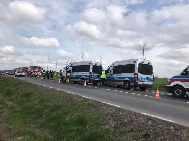 Do zderzenia czterech radiowozów doszło w Brzoziu Lubawskim w gminie Kurzętnik w powiecie nowomiejskim