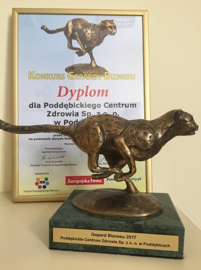 Poddębickie Centrum Zdrowia wyróżnione w XII edycji Konkursu Gepardy Biznesu 2017