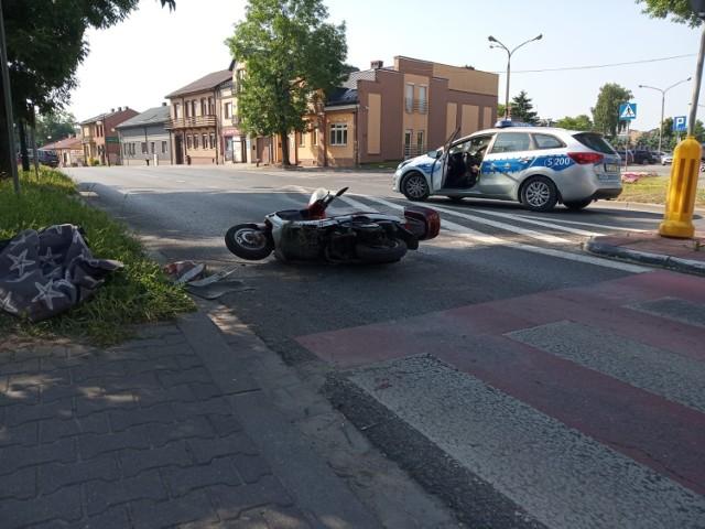 Motorowerzysta ranny w wypadku trafił do szpitala