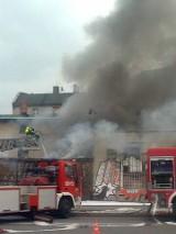 Pożar w Katowicach na Dudy-Gracza [WIDEO]