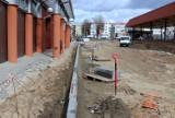 Łomża. Trwa budowa Centrum Przesiadkowo-Komunikacyjnego. Zobacz zdjęcia