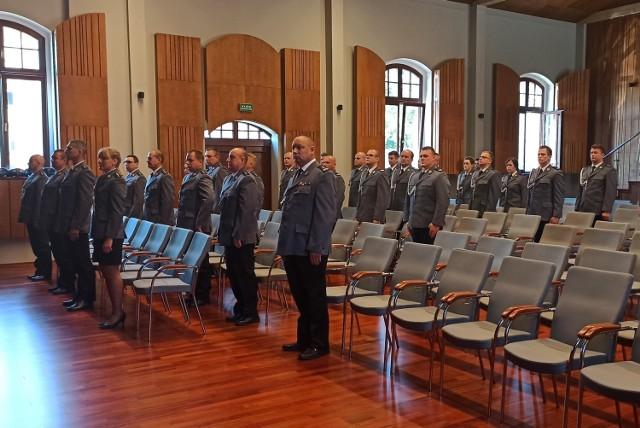 Uroczystości Święta Policji w Chełmnie odbyły się w tym roku w kameralnym gronie z powodu pandemii koronawirusa