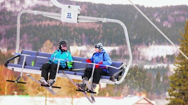 Ski Arena w Szklarskiej Porębie. Po uruchomieniu kanapy narciarze chwalą brak kolejek