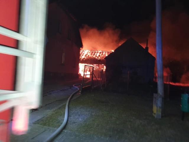 Płonąca stodoła z Ostrowąsów