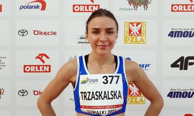 Agata Trzaskalska z Gwdy Piła, choć specjalizuje się w siedmioboju, w Młodzieżowych Mistrzostwach Polski U23 wystartowała w biegu na 100 m ppł