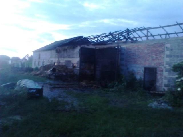 -Podejrzewamy, że ktoś podpalił nasz budynek gospodarczy. I jednak chcemy z mężem ścigania sprawców - mówi Dorota Buczkowska, właścicielka.