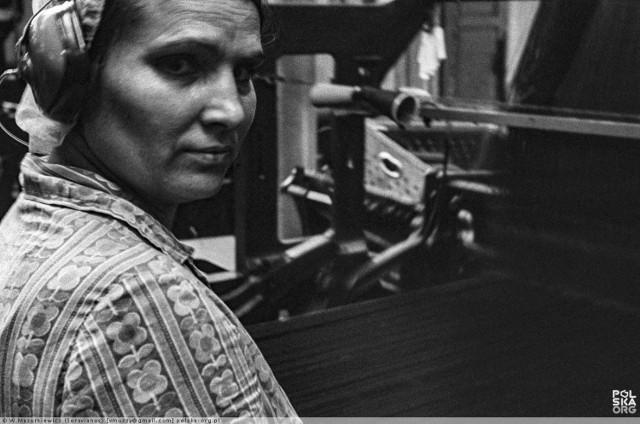 Zakłady Tkanin Dekoracyjnych Dekora w Żarach na archiwalnych zdjęciach