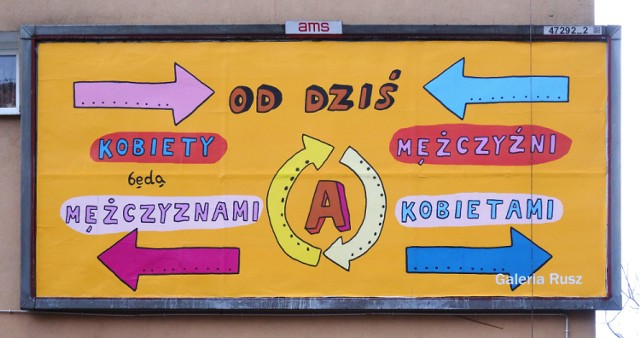 Dzień Kobiet na billboardzie w Warszawie. Niezwykłe projekty Galerii Rusz [ZDJĘCIA]