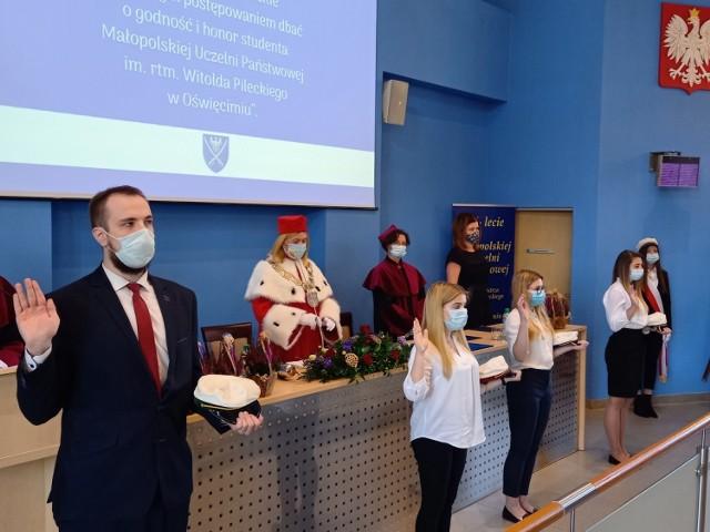 To była już 16. inauguracja roku akademickiego w historii Małopolskiej Uczelni Państwowej w Oświęcimiu. Tym razem bez udziału gości i przy zachowaniu wszystkich zasad sanitarnych.