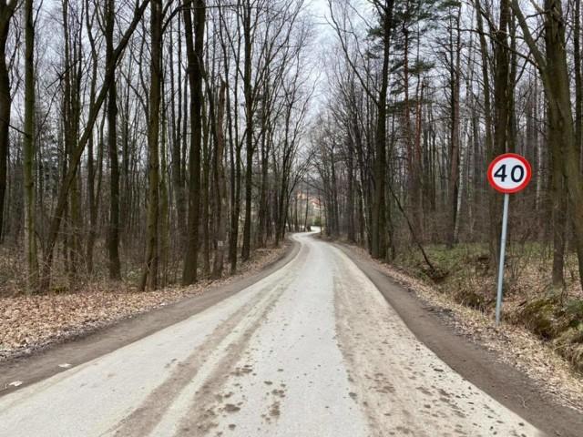 Trasa nowej ścieżki rowerowej - ul. Kościelna