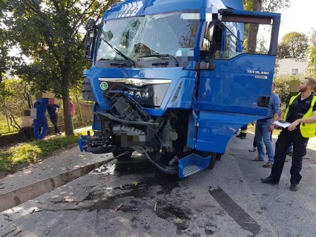 Gmina Trzemeszno: ciężarówka uderzyła w drzewo