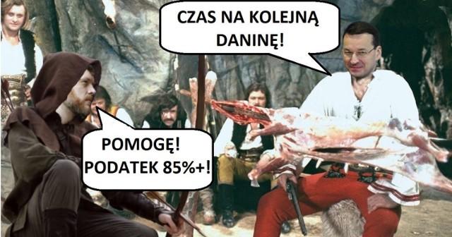 """We wtorek, 10 października, premier Morawiecki chwalił się podpisaną umową, dzięki której Polskie Koleje Linowe wrócą w polskie ręce. Wywiad, który transmitowała Telewizja Polska odbywał się na zboczu Kasprowego Wierchu. W trakcie wywiadu premier przypomniał rozmowę z jednym z górali w Zakopanem: """"Powiedział mi, że jestem Janosikiem, bo zabieram mafiom VAT-owskim, a daję dzieciom. Ja się tego nie wstydzę"""". Wypowiedź szczególnie przypadła do gustu internautom, którzy na swój sposób komentują sytuację w mediach społecznościowych. Zobacz rekację internetu w galerii memów."""
