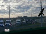 Wypadek samochodu dostawczego i osobowego na DK11 w Lubecku. Są ranni