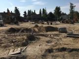 Koparka uszkodziła gazociąg na placu budowy ronda