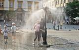 Kraków. Kurtyny wodne dobre na upalne dni [ZDJĘCIA]