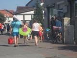 Weekend w Rowach. Wielu turystów, piękna pogoda