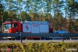 Łętowice. Gdy służby ratunkowe pracowały przy kolizji na autostradzie A4, w wóz strażacki wjechał kolejny samochód osobowy [ZDJĘCIA]