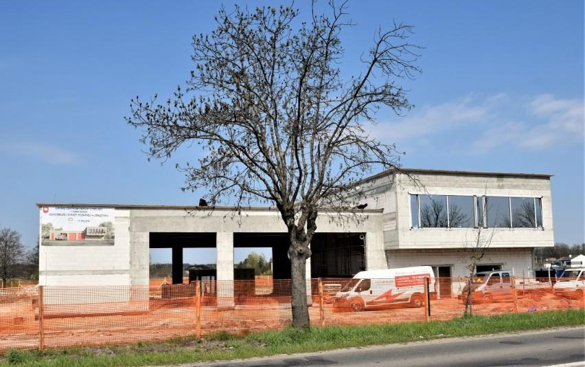 Trwają prace na budowie nowej remizy strażackiej i Centrum Zarządzania Kryzysowego