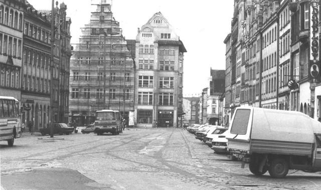 24 października 1992, Rynek, widok w kierunku ulicy św. Mikołaja
