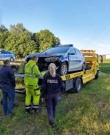 Kolizja policyjnego radiowozu. Auto rozbite ZDJĘCIA