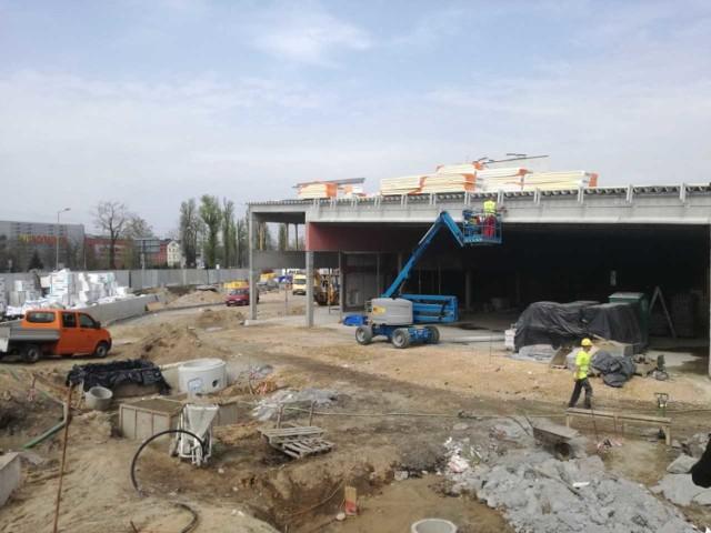 Nowy Lidl w Katowicach w budowie