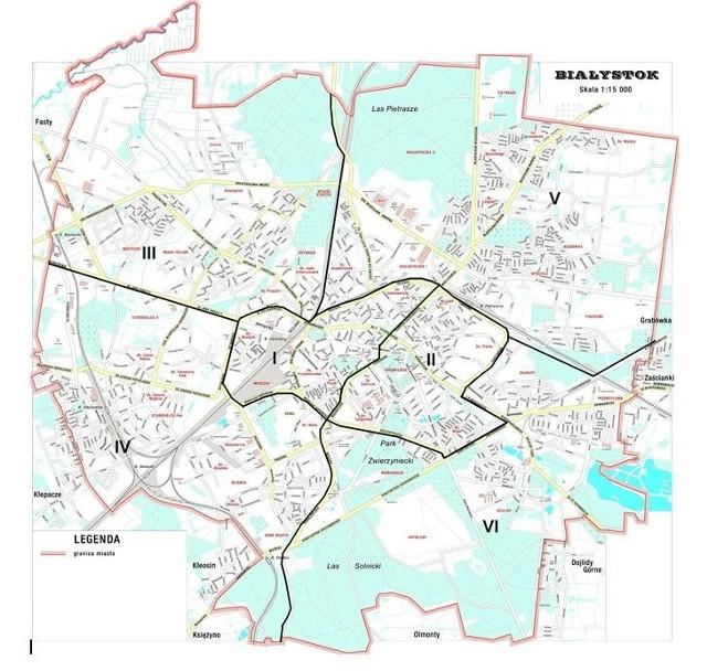 Zimowe Oczyszczanie Bialegostoku Mapa Bialystok Nasze Miasto