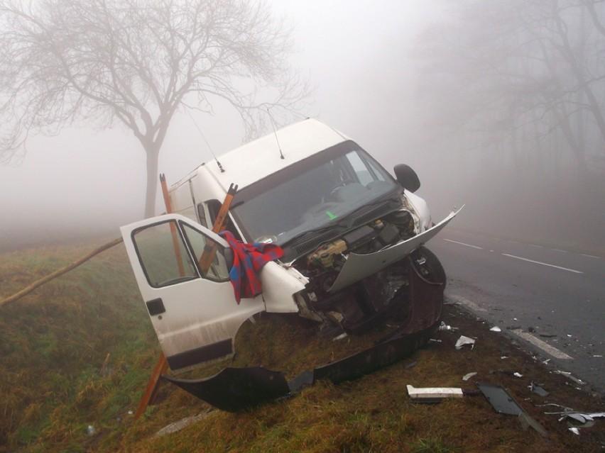 Wypadek w Skarszewie. Trzy osoby w szpitalu