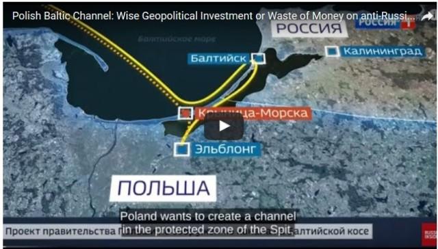 Mierzeja Wiślana. Fragmenty materiału w rosyjskiej stacji dotyczącej Przekopu Mierzei Wiślanej