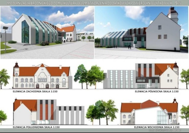 Na taki efekt modernizacji Brodnickiego Domu Kultury czekają mieszkańcy