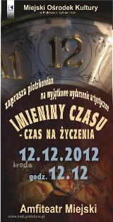 Happpening artystyczny na Imieniny Czasu dziś w miejskim amfiteatrze w Piotrkowie