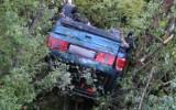 Łabowa. Samochód dachował na DK nr 75. Kierowca został ranny [ZDJĘCIA]