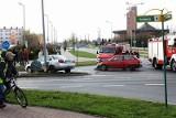 Chojnice:Trzy osoby w szpitalu po zderzeniu osobówek na skrzyżowaniu Kościerskiej i Obrońców Chojnic