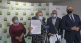 Przedstawiciele gminy Sanok na konferencji PSL w Rzeszowie. Nie chcą wcielenia do Sanoka [ZDJĘCIA]