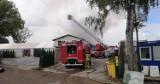 Duży pożar w Bydlinie. Paliła się drukarnia i sąsiednie budynki [ZDJĘCIA, WIDEO]