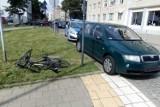 Łódź. Potrącenia rowerzysty na skrzyżowaniu ul. Wysokiej i al. Piłsudskiego. Kierowca był pod wpływem alkoholu