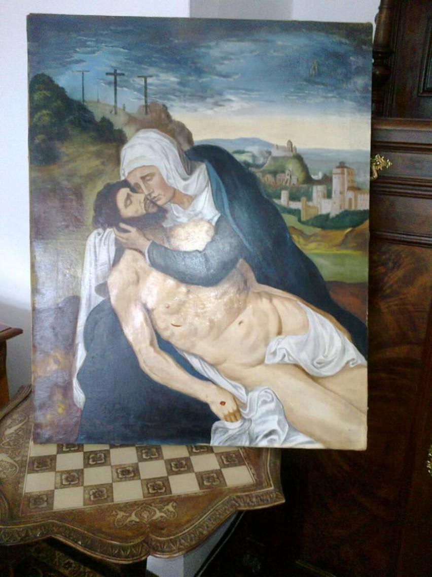 Rutkowski pokazuje majątek księdza Waldemara Irka, to są głównie obrazy, figury i meble
