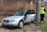 Sosnowiec: Pijany kierowca uderzył w słup na Pogoni. Ucierpiała jego pasażerka