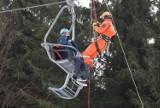 Próbna ewakuacja 10 narciarzy z Dzikowca. Kiedy otwarcie sezonu, czy będzie restauracja i ile kosztuje karnet?