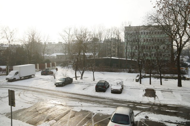 Miejsce, gdzie planuje się budowę parkingu.