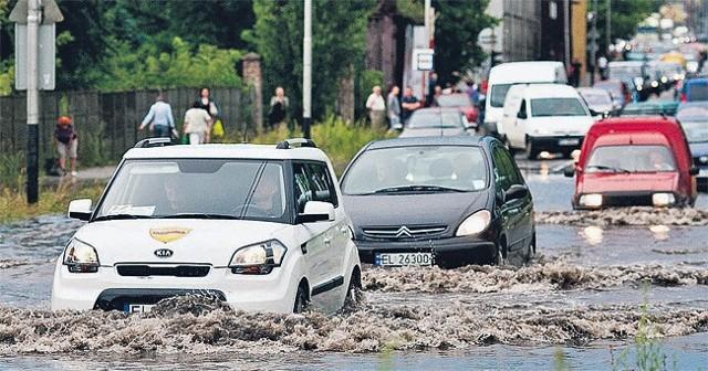 W Łodzi od początku lata spadło ok. 100 litrów wody na metr kwadratowy.