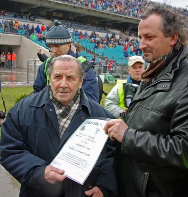 W wieku 86 lat w szpitalu w Chorzowie zmarł Gerard Cieślik, ...