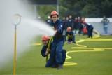 Na stadionie sportowym Powiatowego Centrum Sportu w Bełchatowie odbyły się powiatowe zawody sportowo-pożarnicze