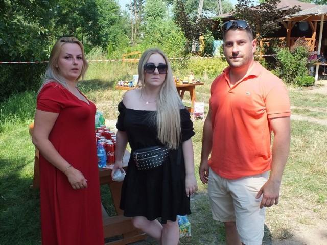 Imprezę na Piachach organizowali, od lewej: Katarzyna Stodulska, Aleksandra Krzos, Emil Krzemiński