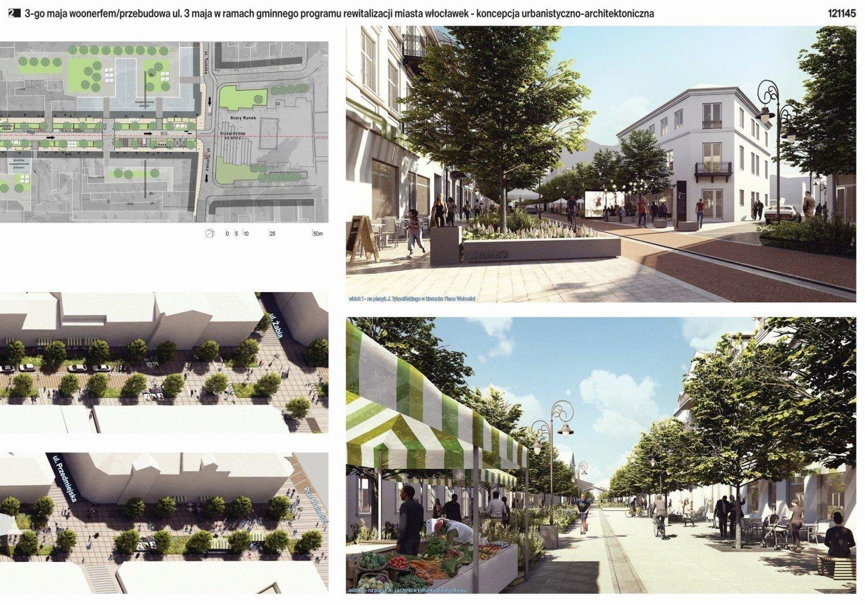 Așa ar putea arăta strada Maja nr. 3 din Włocławek după reconstrucție [wizualizacje]