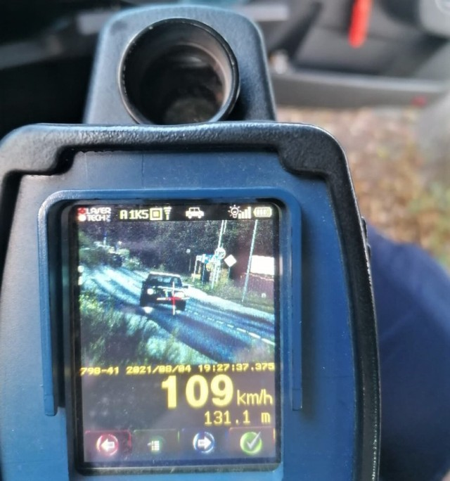 Nastolatek dwukrotnie przekroczył prędkość w terenie zabudowanym