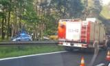 Kobiór: Wypadek na DK-1. Zderzenie audi z bmw. Na miejsce wysłano helikopter LPR