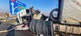 Utrudnienia na autostradzie A4 w Gliwicach. Przed bramkami doszło do wypadku z udziałem trzech ciężarówek