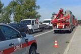 Bieruń: Wypadek na DK44. Na moście nad Wisłą zderzyły się cztery samochody. Trasa jest zablokowana