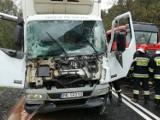 Wypadek na DK 12 między Przygłowem a Sulejowem. Zderzenie dwóch samochodów ciężarowych AKTUALIZACJA